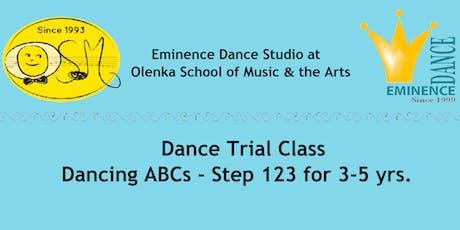 3-5 yr. Dance Trial tickets