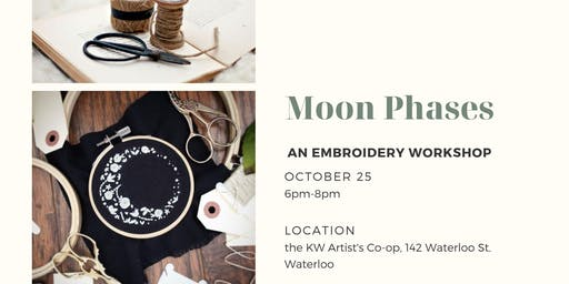 Moon Phases Embroidery Workshop