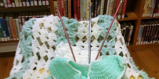 Crocheting at the Library