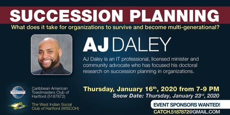 SUCCESSION PLANNING - CATCH TOASTMASTERS - 4 Year Anniversary Celebration tickets