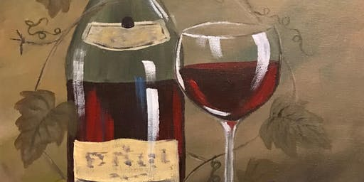 It's Vino Time - Acrylic Painting Class