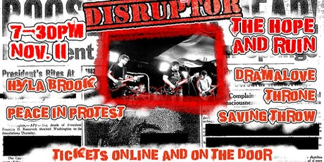 Disruptor: Hyla Brook Plus Support at The Hope And Ruin tickets