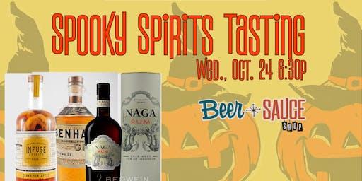 Spooky Spirits Tasting