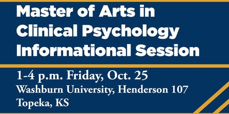 Information Session: Masters in Clinical Psychology at Washburn University tickets