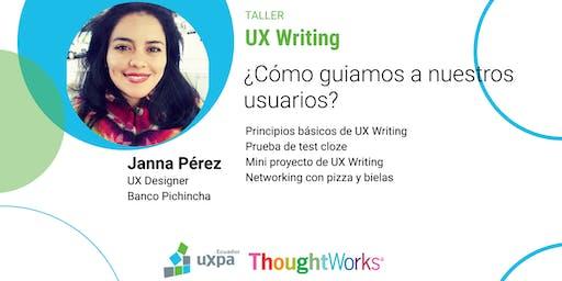 Taller UX Writing: ¿Cómo guiamos a nuestros usuarios?