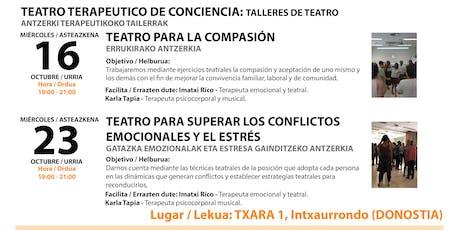 TEATRO DE CONCIENCIA TERAPÉUTICO (TALLER DE DOS DÍAS) entradas