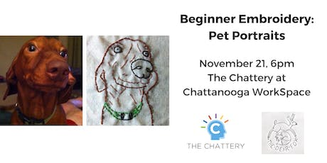 Beginner Embroidery: Pet Portraits tickets