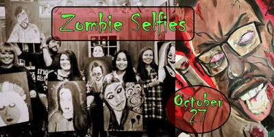 Zombie Selfies Paint Class!