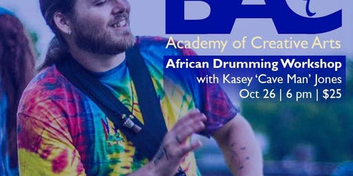 African Drumming Workshop with Kasey 'Cave Man' Jones