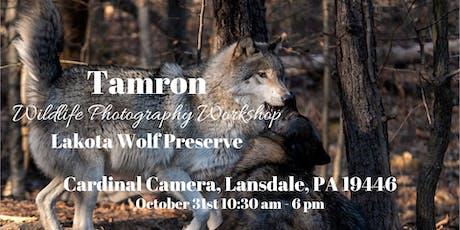 Tamron Wildlife Photography Workshop at The Lakota Wolf Preserve tickets