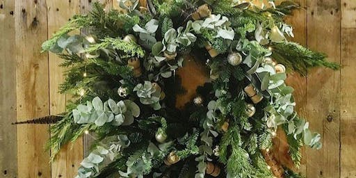 Festive Flowers & Fizz - Christmas Wreath Workshop & Wine Tasting