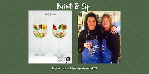 Paint and Sip - Fall Leaves - 11/2 - Paradocx Vineyard, Landenberg, PA