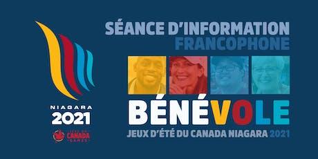 Séance d'information  sur les Jeux d'été du Canada Niagara 2021 tickets