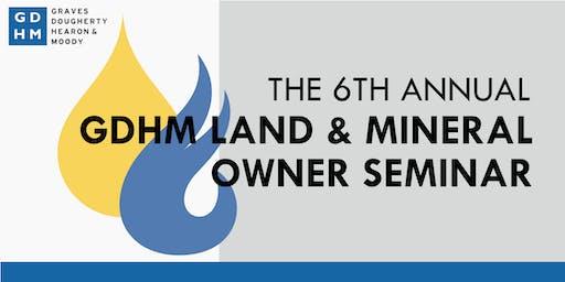 2019 GDHM Land & Mineral Owner Seminar
