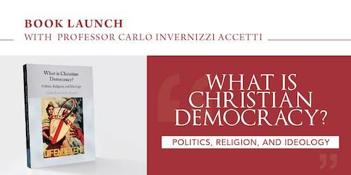 Book Launch with  Professor Carlo Invernizzi Accetti
