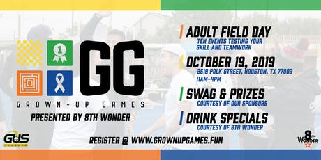 Grown Up Games 2019 Presented by 8th Wonder Brewery tickets