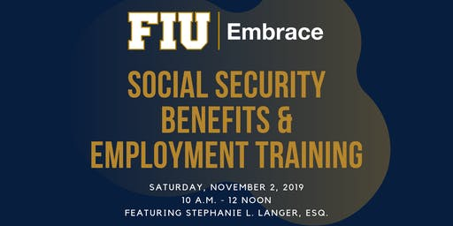 Social Security Benefits and Employment Training
