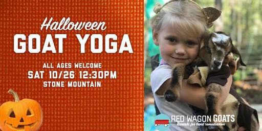 Halloween GOAT YOGA for all ages