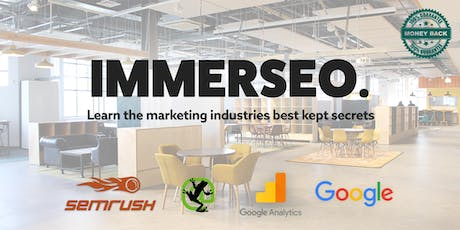 SEO Training Course By IMMERSEO. tickets