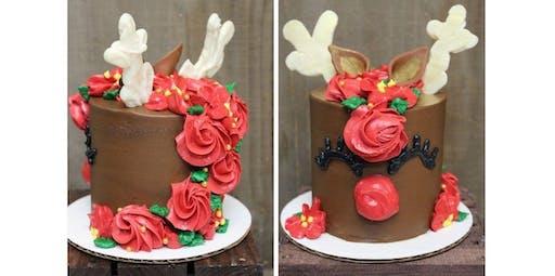 Reindeer Cake Class (2019-12-02 starts at 6:30 PM)