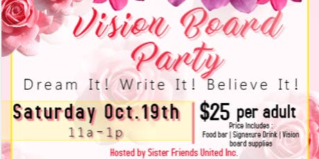"Sister Friends United presents ""The Vision Board Party"" tickets"