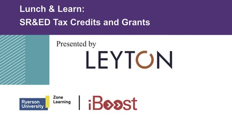 Lunch & Learn: SR&ED Tax Credits and Grants tickets