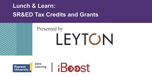 Lunch & Learn: SR&ED Tax Credits and Grants