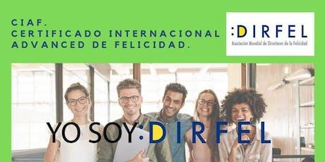 CIAF - Certificado Internacional Advanced de la Felicidad entradas