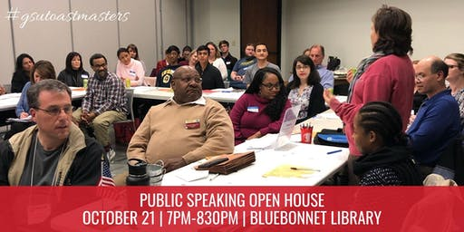Public Speaking Open House - GSU Toastmasters BR