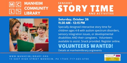 October VOLUNTEER: Sensory Story Time with Activities