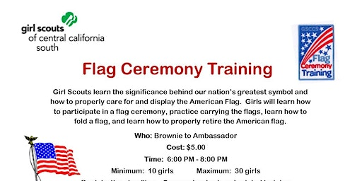 Flag Ceremony Training - Fresno