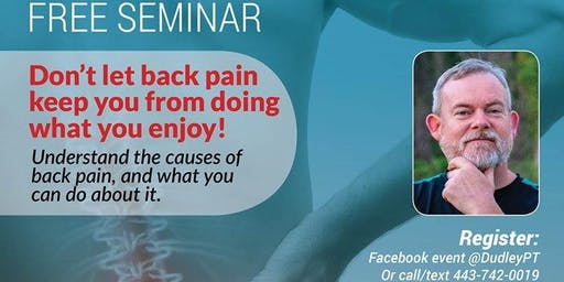 ATTENTION: Important Information about Back Pain and Sciatica