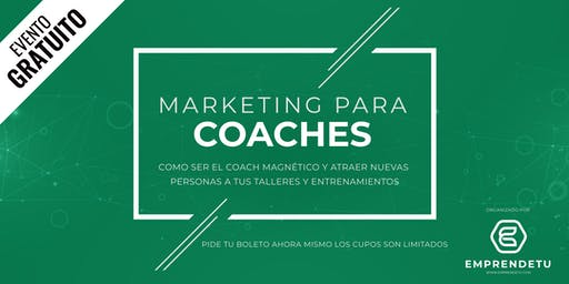 Marketing para Coaches: Como llenar tus eventos cada semana, aunque no tengas un solo fan en Facebook