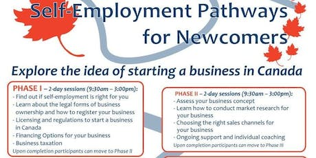 Self-Employment Pathways for Newcomers tickets