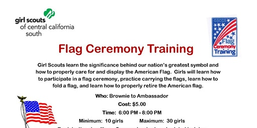 Flag Ceremony Training - Ridgecrest