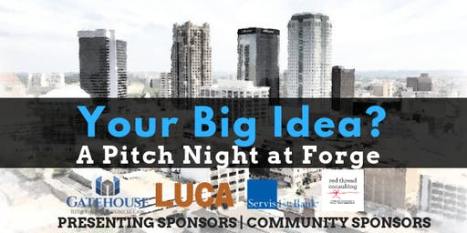 Your Big Idea- a pitch night at Forge