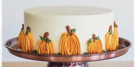 Pumpkin cake decorating class