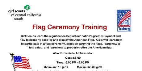 Flag Ceremony Training - Madera tickets