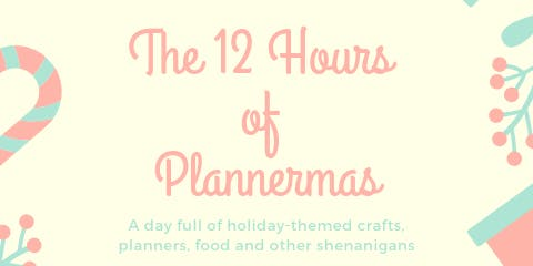 12 Hours of Plannermas