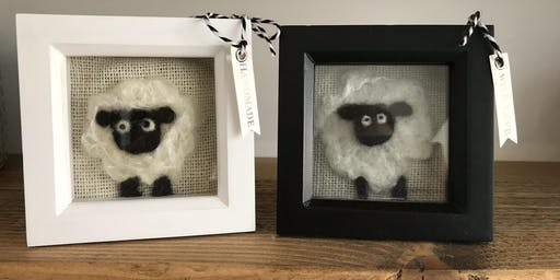 Felt Sheep Picture Project