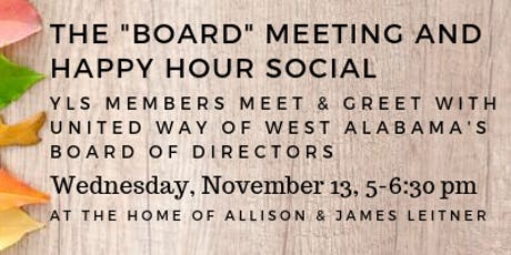 """The """"Board"""" Meeting Happy Hour Social tickets"""