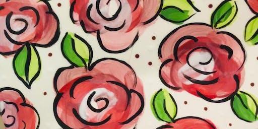 Painting Technique Night: Rose Clock