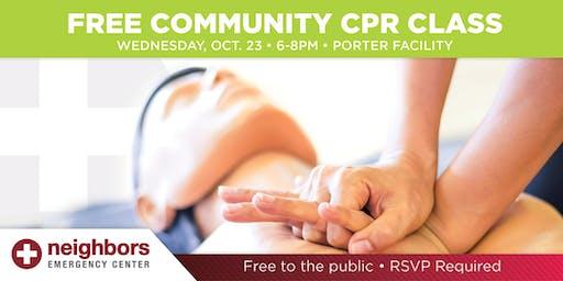 CPR Training at Porter Neighbors Emergency Center