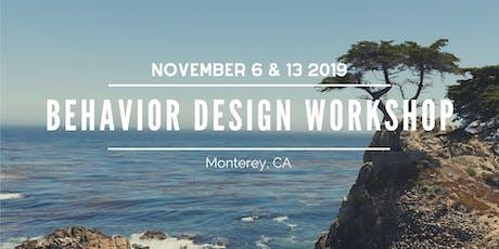 Behavior Design Workshop for Environmental & Social Impact - November 6 & 13, 2019 tickets