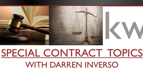 Special Contract Topics with Darren Inverso tickets