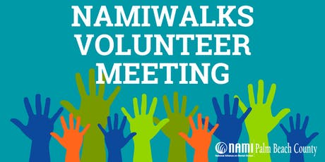 NAMIWalks Volunteer Meeting tickets