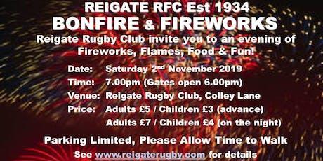 Reigate RFC Fireworks 2019 tickets