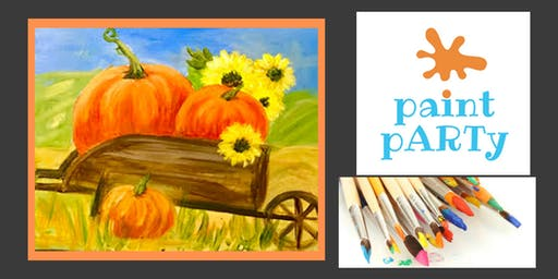 Paint'N'Sip Canvas - Pumpkin Harvest - $35 pp