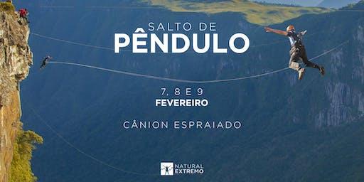 Salto de Pêndulo Natural Extremo | FEVEREIRO | Cânion Espraiado - Urubici