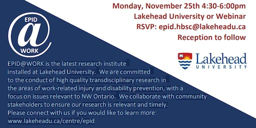EPID@Work Research Speakers & Networking Event